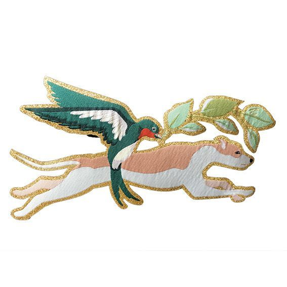 Terra Canis Patch - Dog & Swallow
