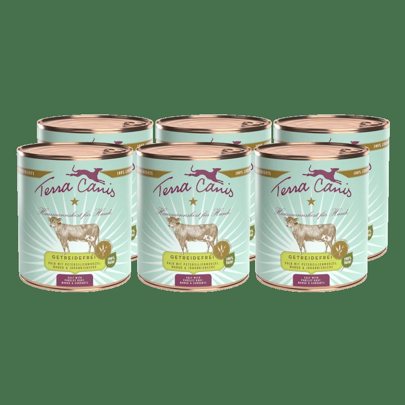 Kalb mit Petersilienwurzel, Mango und Johannisbeere