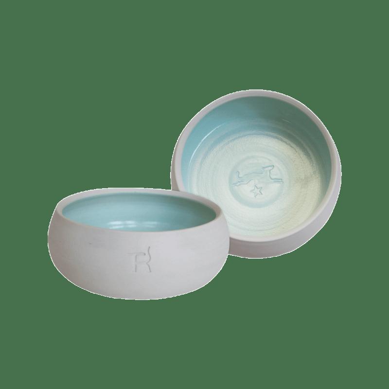 Keramik-Hundenapf – Natur / Mint