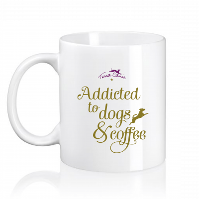 """Tazza """"Addicted to dogs & coffee"""""""