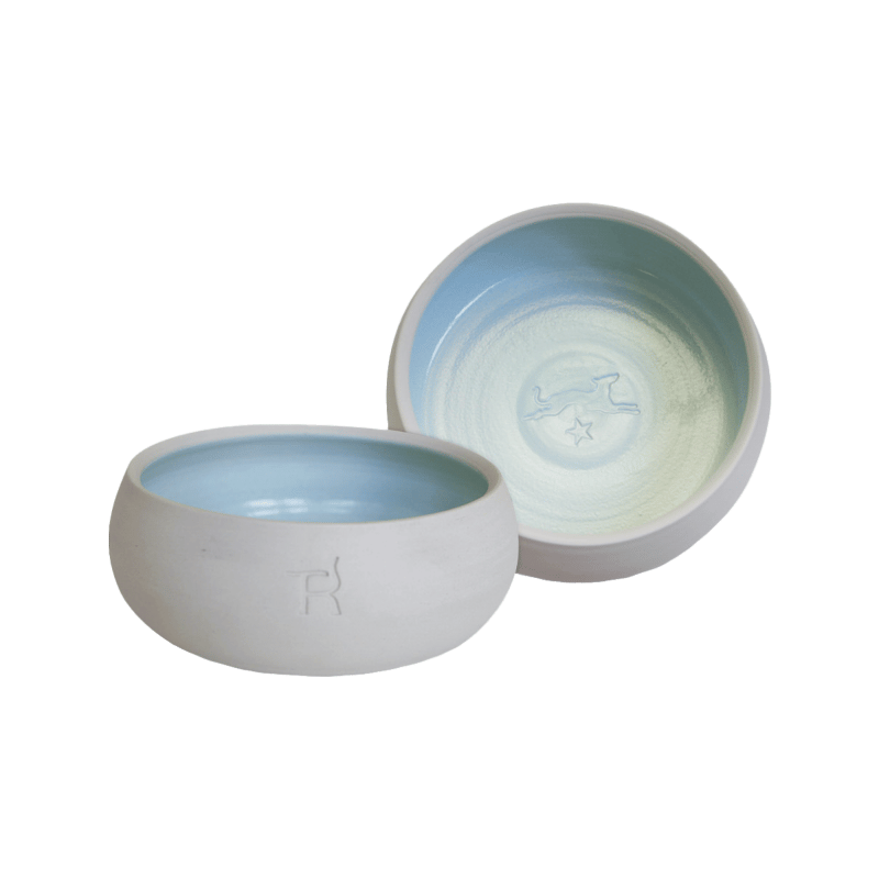 Keramik-Hundenapf – Natur / Himmelblau