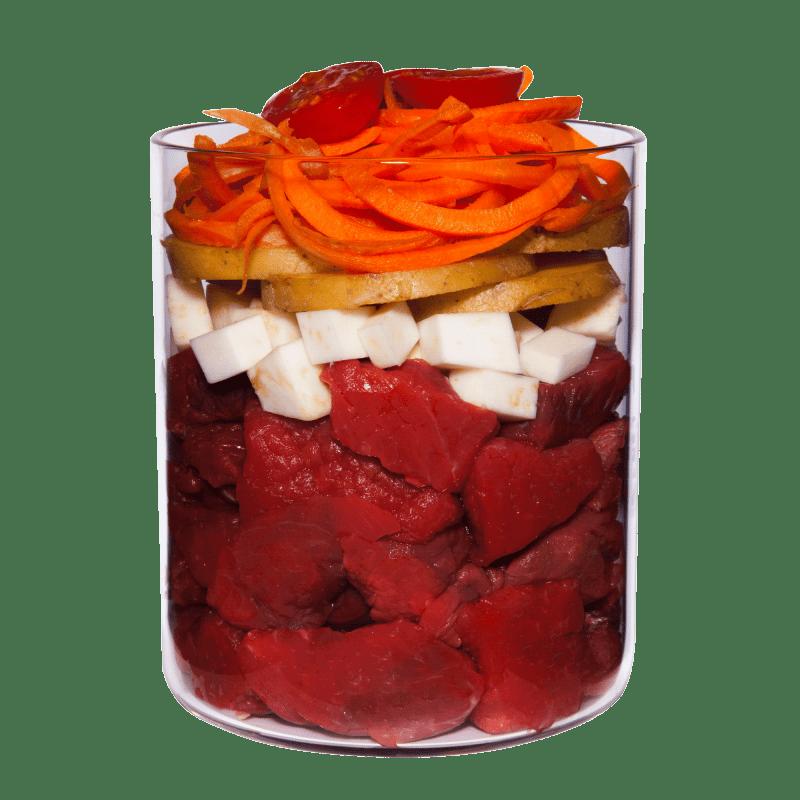 Wild mit Tomate, Apfel und Gesundheitskräutern
