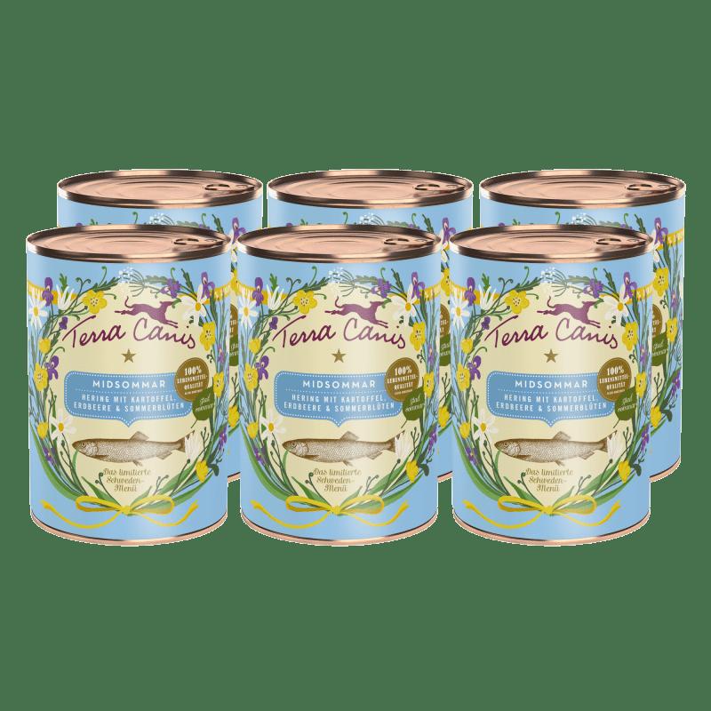 """""""Midsommar"""": Hering mit Kartoffel, Erdbeere und Sommerblüten"""
