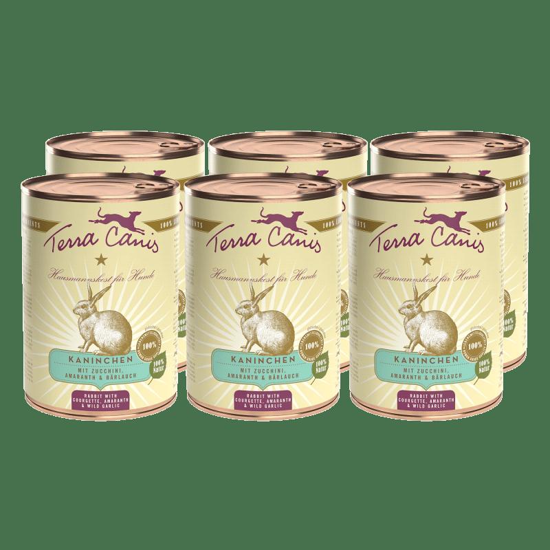Kaninchen mit Zucchini, Amaranth und Bärlauch