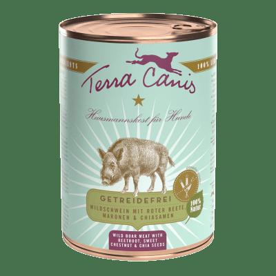 Wildschwein mit Roter Bete, Marone und Chiasamen