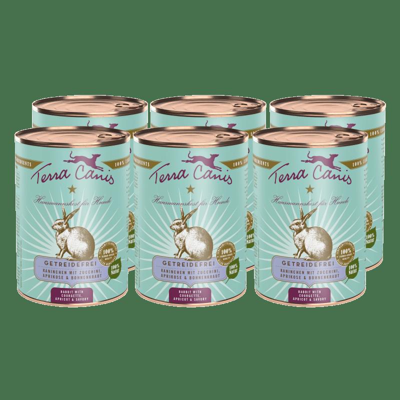 Kaninchen mit Zucchini, Aprikose & Bohnenkraut