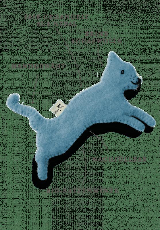 Spielzeug mit Katzenminze / Blau