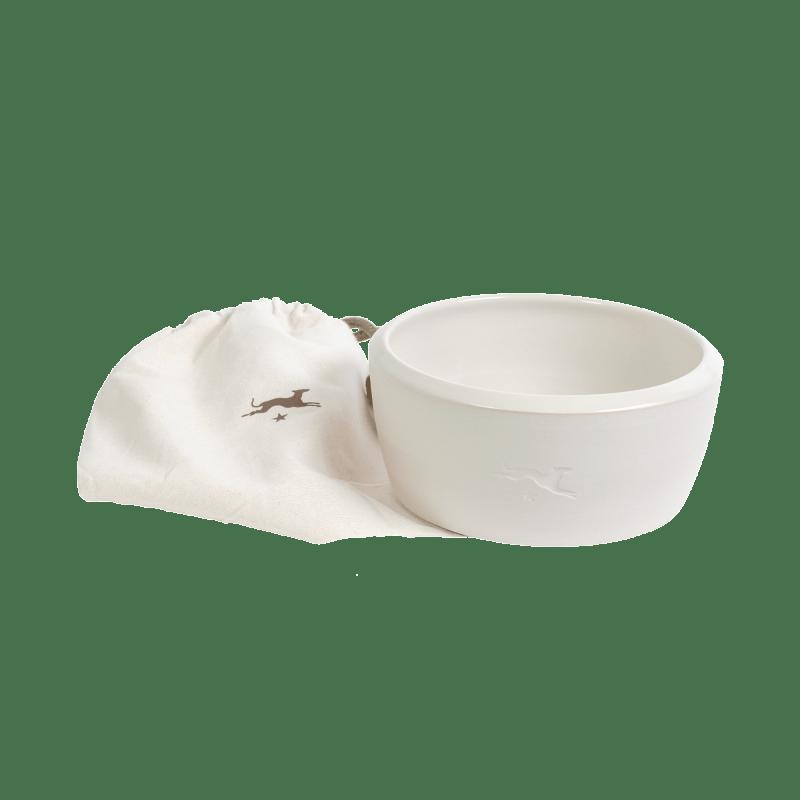 Keramik-Hundenapf – Weiß