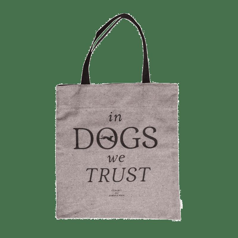"Canvas Shopper ""In DOGS we TRUST"""