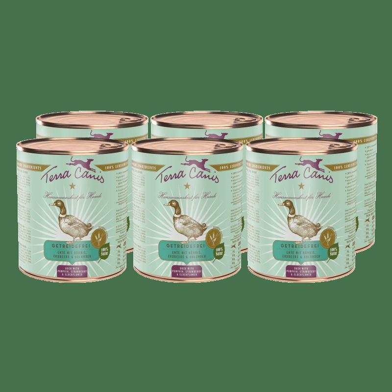 Ente mit Kürbis, Erdbeere und Holunder