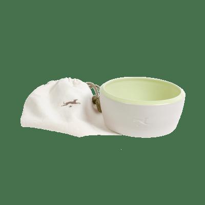 Keramik-Hundenapf – Natur / Hellgrün