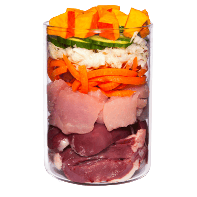 Turkey with celery, pumpkin and watercress