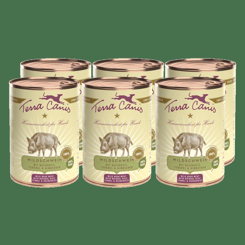 Wildschwein mit Naturreis, Fenchel und Himbeere