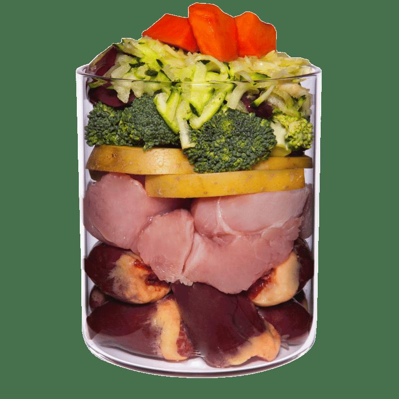 Pute mit Papaya, Brokkoli und Gesundheitskräutern