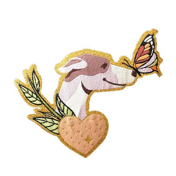 Terra Canis Patch - Dog & Butterfly