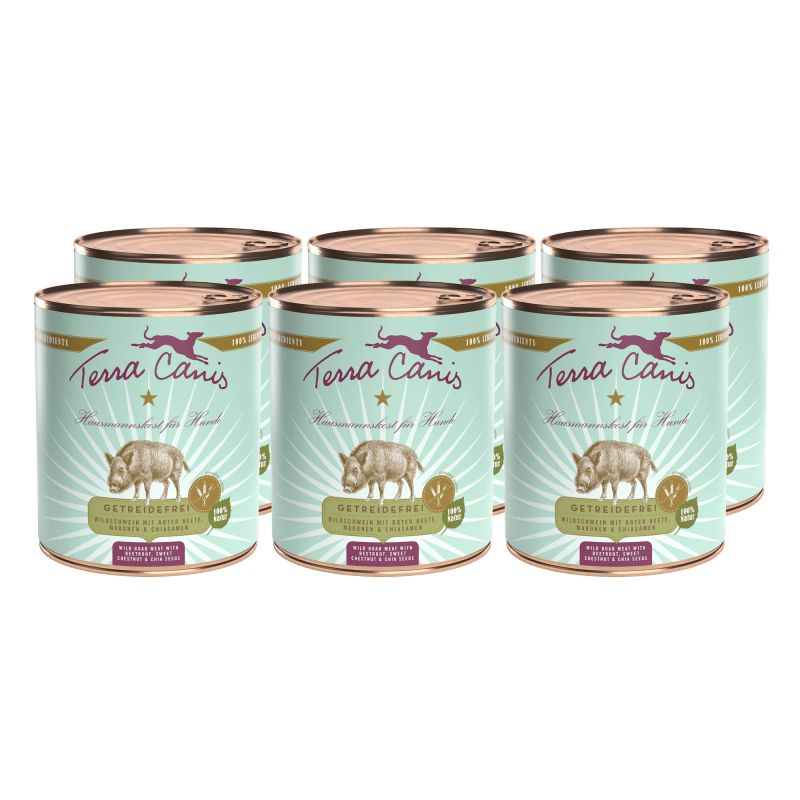 Wildschwein mit Roter Bete, Kastanie und Chiasamen