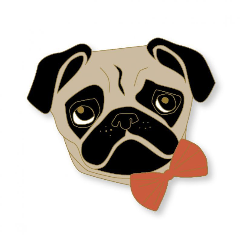Terra Canis Pin - Pug