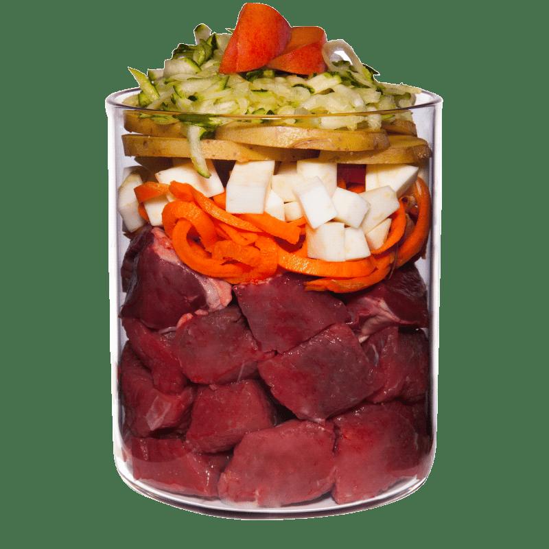 Bœuf avec céleri, abricot et herbes médicinales