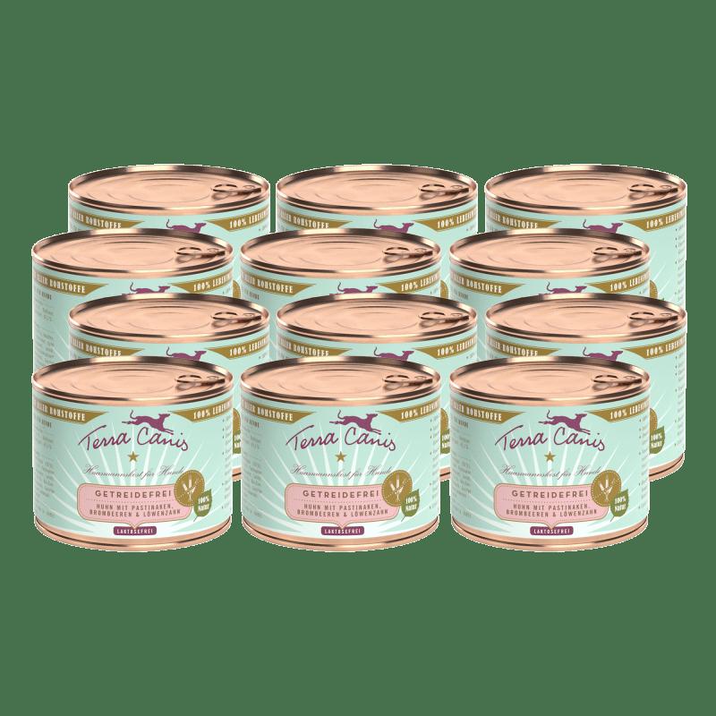 Huhn mit Pastinake, Brombeere und Löwenzahn