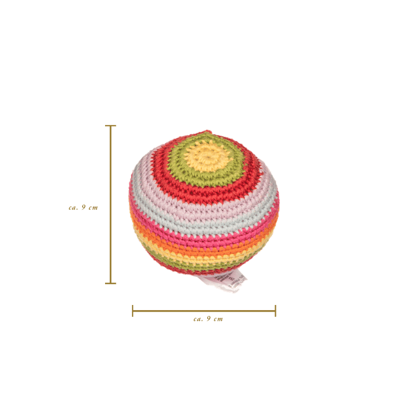 Stripey Crochet Ball