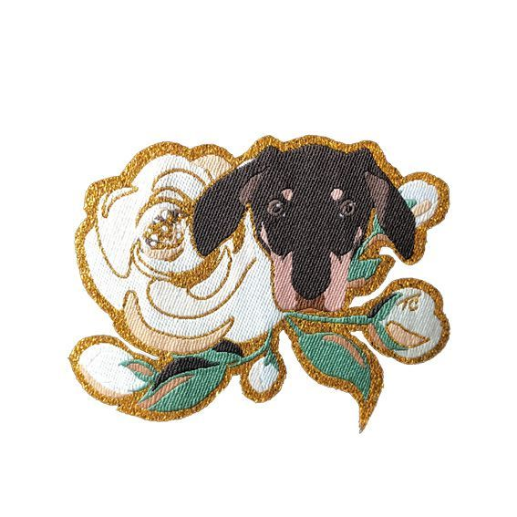 Terra Canis patch - dog & rose