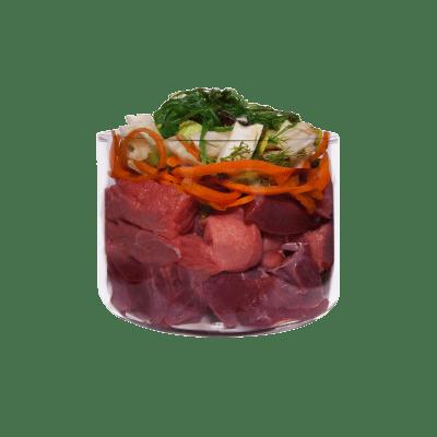 Rind mit Karotte und Brunnenkresse