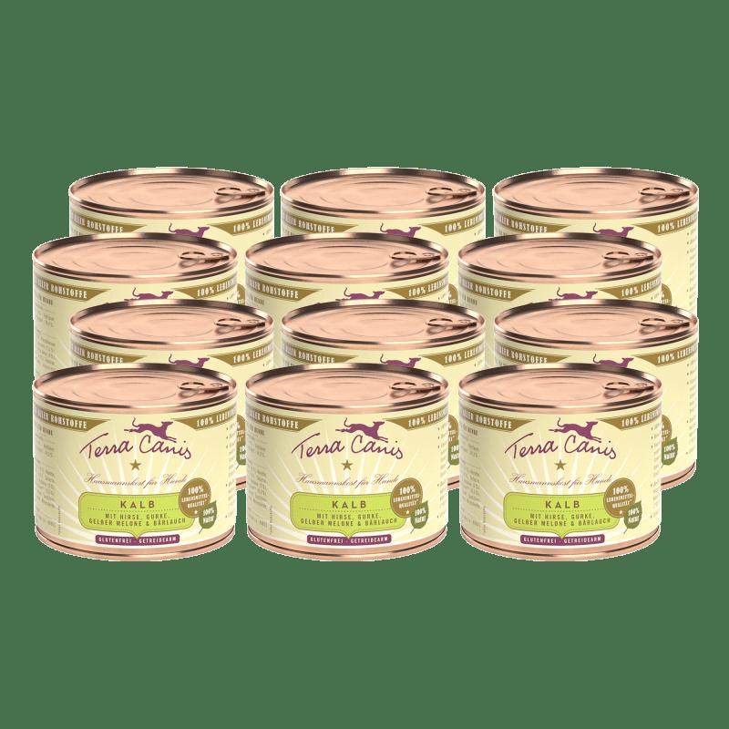 Kalb mit Hirse, Gurke, gelber Melone und Bärlauch