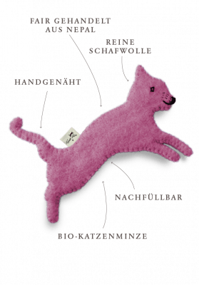 Toy with catnip / pink