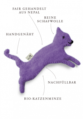 Toy with catnip / lilac