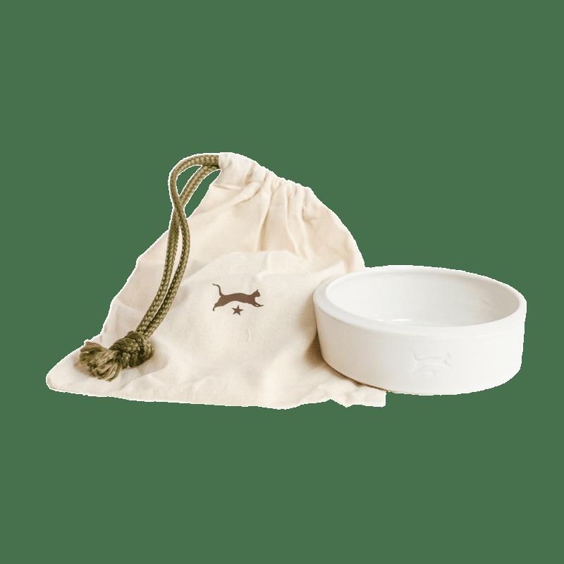 Keramik-Katzennapf - Weiß