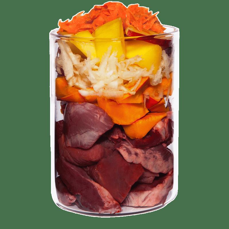 Lamm mit Kürbis, Pastinake und Passionsblume