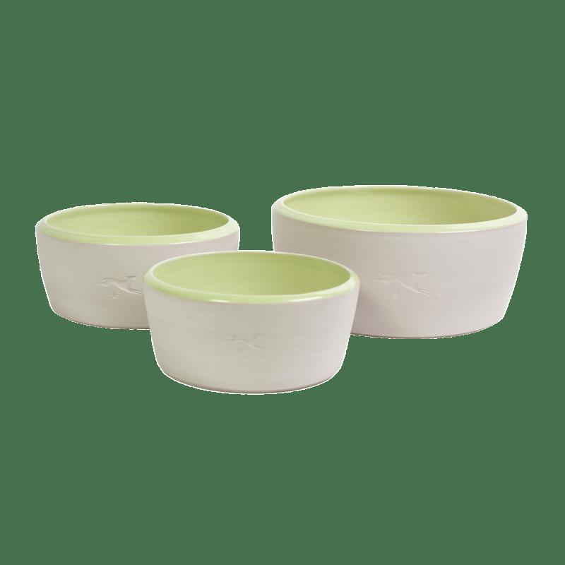Écuelle en céramique – couleur naturelle / vert clair